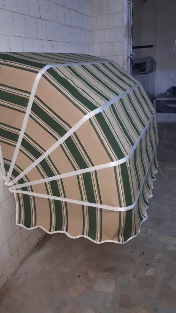 Körüklü Tente Yeşil Beyaz Krem